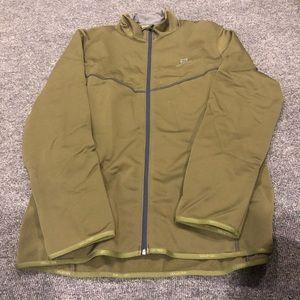 Men's Salomon Olive Green Windbreaker Jacket New!